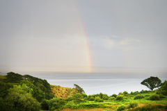 Rainbow over Donegal Bay, Killybegs, West Ireland 2 Royalty Free Stock Photography