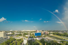 Rainbow over Downtown Miami Royalty Free Stock Image