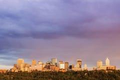 Rainbow over Edmonton Stock Photos