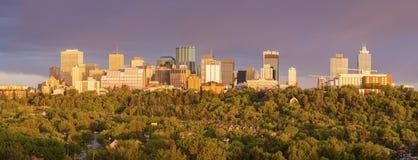 Rainbow over Edmonton Royalty Free Stock Photography