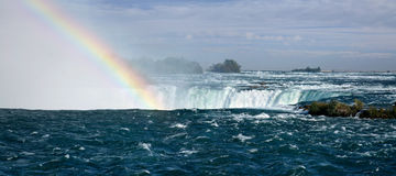 Rainbow Over The Falls Stock Photo