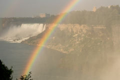 Rainbow over the falls. Royalty Free Stock Image