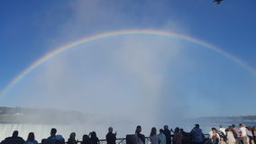 Rainbow over the falls. Niagara Falls ontario stock photography