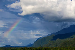 Rainbow over the forest Stock Photography
