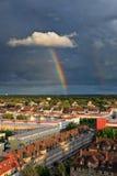 Rainbow over Frankfurt. Rainbow over Niederrad, Frankfurt am Main, Germany Stock Photos