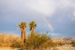 Rainbow over Furnace Creek royalty free stock photography