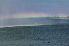 Rainbow over the Geneva Lake Stock Photos