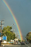 Rainbow over Glen Osmond Road, South Australia Royalty Free Stock Images