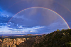 Rainbow over Grand Canyon Royalty Free Stock Photography