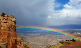 Rainbow over Grand Junction Stock Photography