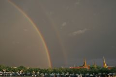 Rainbow Over Grand Palace Royalty Free Stock Photo