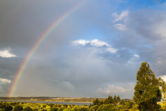 Rainbow over the Guadiana River in Spain Stock Photos