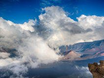 Rainbow over Haleakala Crater Royalty Free Stock Images