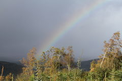 Rainbow over the Highlands of Scotland Royalty Free Stock Photos