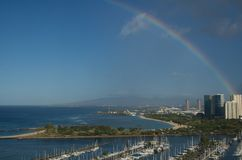 Rainbow over Honolulu Royalty Free Stock Image