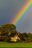 Rainbow Over House Stock Photos