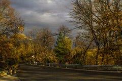 Rainbow over Humber Valley in Toronto, Ontario, Canada . Fall 2015 royalty free stock photo