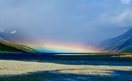Rainbow over the lake Royalty Free Stock Photo