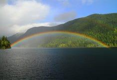 Rainbow over the lake Royalty Free Stock Photos