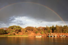 Rainbow over lake Tana Royalty Free Stock Image