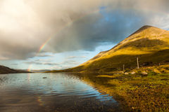 Rainbow over Lake Stock Photos