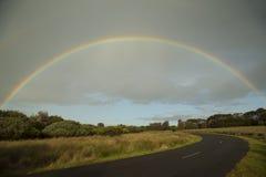 Rainbow over a landscape Royalty Free Stock Photos