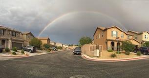 Rainbow over Las Vegas Stock Image