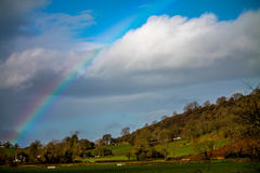 Rainbow over the levels Royalty Free Stock Photos