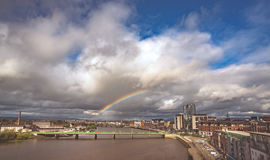 Rainbow over Limerick city Royalty Free Stock Image