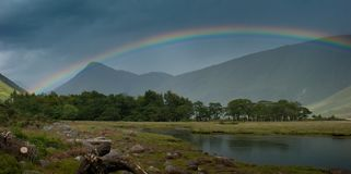 Rainbow over Loch Etive Stock Image