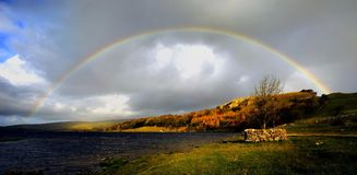 Free Rainbow Over Malham Tarn Royalty Free Stock Images - 110408759