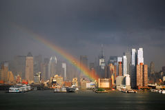 Free Rainbow Over Manhattan Royalty Free Stock Photos - 75603988