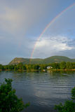 Rainbow over Mont-Saint-Hilaire Stock Photos