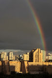 Rainbow over Moscow Royalty Free Stock Photos
