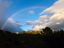 Rainbow over the mountain Royalty Free Stock Photography