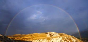 Rainbow over the mountains of Crimea. Ukraine royalty free stock photos