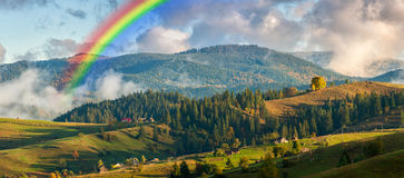 Rainbow over Mountains Royalty Free Stock Photography
