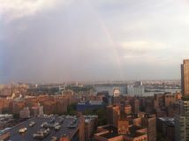 Rainbow over New York City Royalty Free Stock Photography