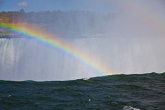 Rainbow Over Niagara Falls Royalty Free Stock Photos