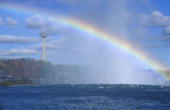 Rainbow Over Niagara Falls Stock Photo