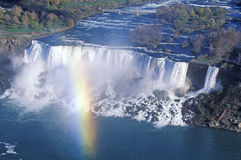 Rainbow Over Niagara Falls Stock Image