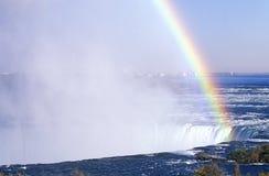 Rainbow Over Niagara Falls, Canada Royalty Free Stock Photography
