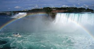 Rainbow over Niagara falls Royalty Free Stock Image