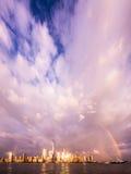 Rainbow Over NYC Royalty Free Stock Photos