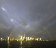 Rainbow over NYC Royalty Free Stock Images