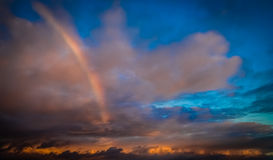 Rainbow over the ocean Stock Photography