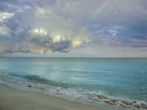 Rainbow over Ocean Royalty Free Stock Photos