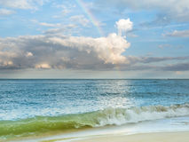 Rainbow over Ocean Royalty Free Stock Photos