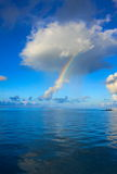 Rainbow over the ocean Royalty Free Stock Images
