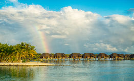 Rainbow over paradise Stock Photography